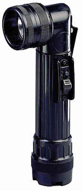 Black Army Style C-Cell Flashlight