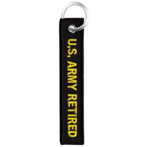 U.S. Army Retired Ribbon Keychain
