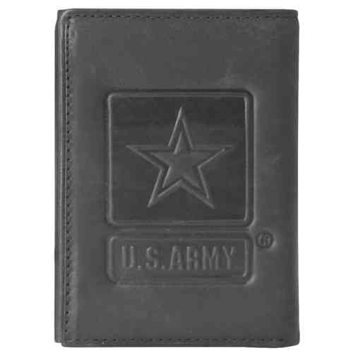 US Army Star Trifold Leather Wallet