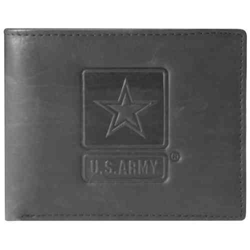 US Army Star Leather Bifold Wallet