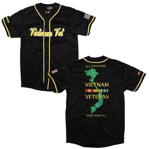 Vietnam Veteran ALL Gave Some, Some GAVE ALL Baseball Jersey