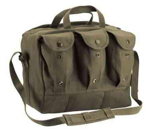 G.I. Type Canvas Medical Equipment/Mag Bag - O.D.