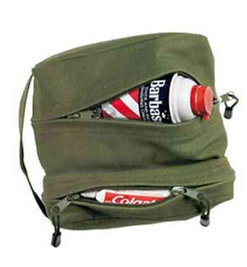 Dual Compartment Travel Kit Bag - Olive Drab
