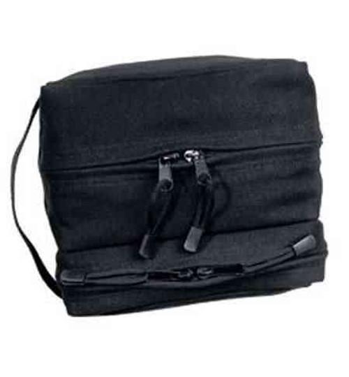 Dual Compartment Travel Kit Bag - Black