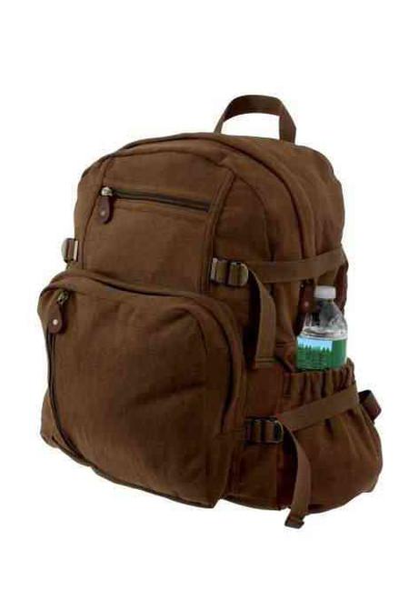 Vintage Brown Jumbo Backpack