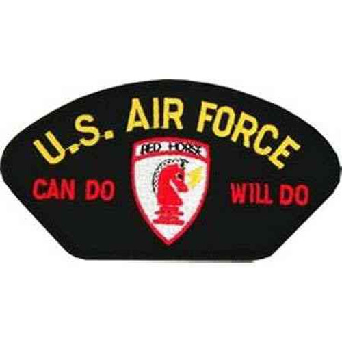 u s air force red horse patch