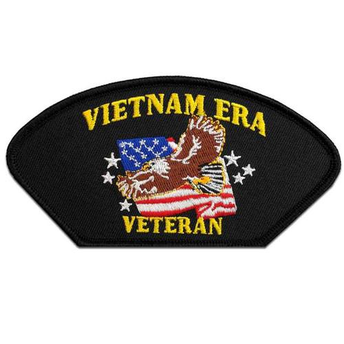 vietnam era veteran eagle and american flag patch