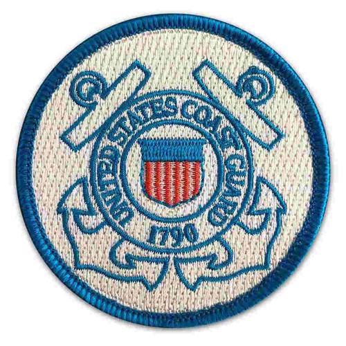 united states coast guard round patch