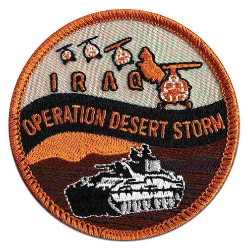 operation desert storm patch iraq map and s