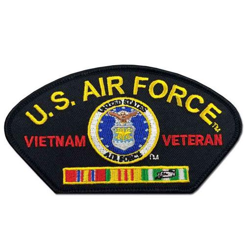 us air force vietnam veteran patch ribbons and eagle emblem