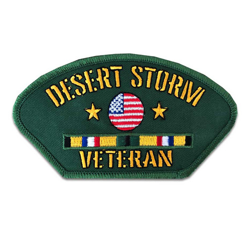 desert storm veteran patch ribbons and us flag s
