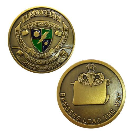 army 1st ranger challenge coin