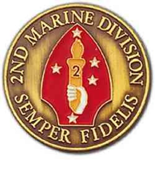 2nd marine div challenge coin