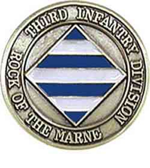 army 3rd infantry division unit challenge coin