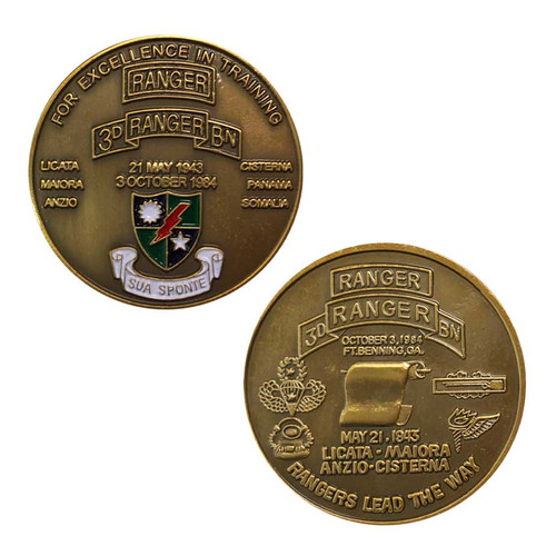 army 3rd ranger challenge coin