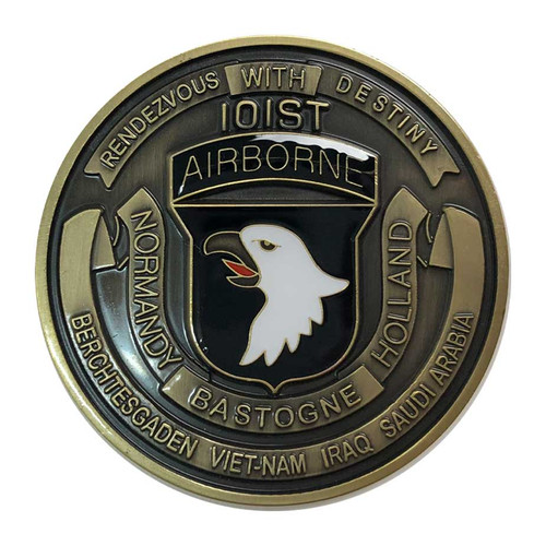 army coin 101st airborne division challenge