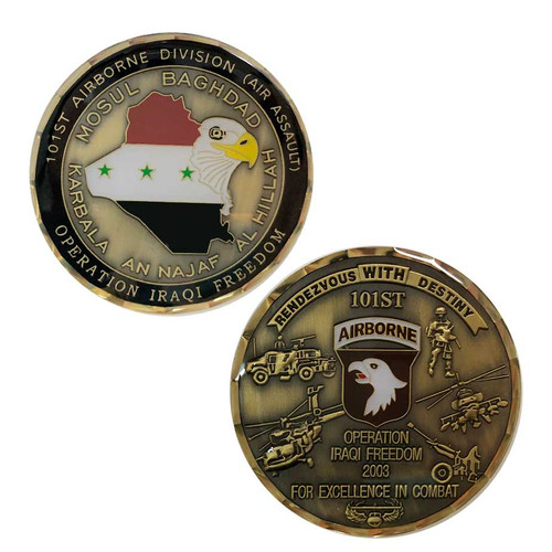 army if 101st airborne challenge coin