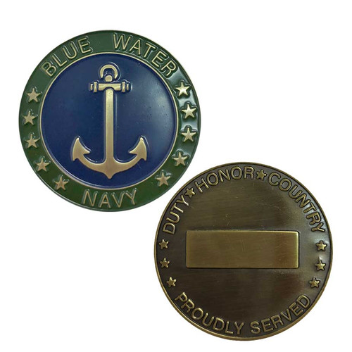 us navy blue water challenge coin