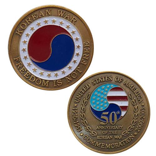 50th anniv korean war challenge coin