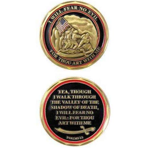 marines psalms 23 challenge coin