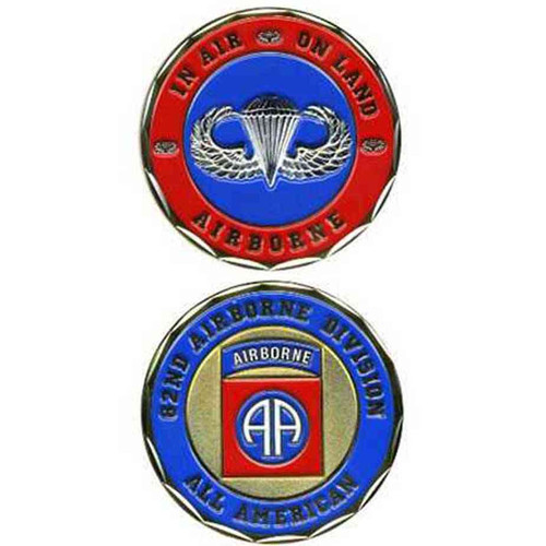u s army 82nd airborne division challenge coin