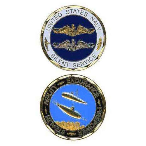 u s navy silent service challenge coin