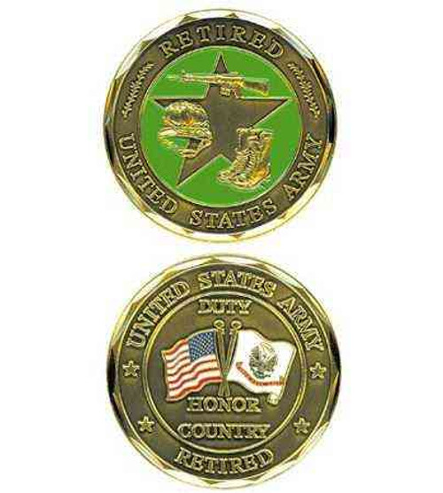u s army retired challenge coin