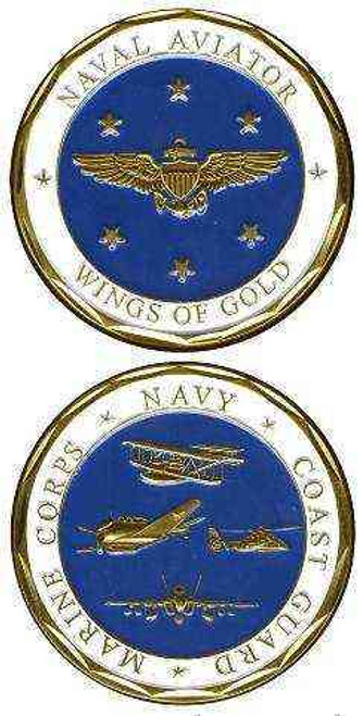 naval aviator wings gold challenge coin