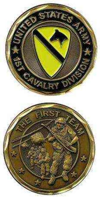 u s army 1st cavalry div first team challenge coin