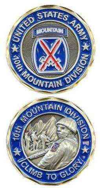 u s army 10th mountain division challenge coin
