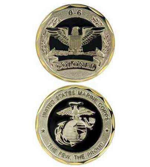 usmc 06 colonel challenge coin