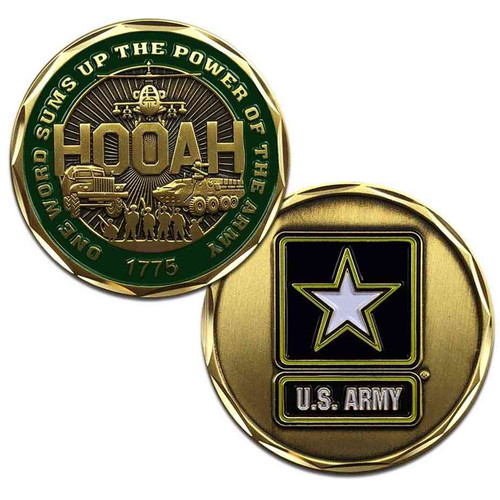 new u s army proudly served challenge coin hooah