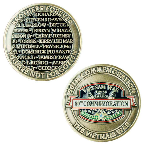 vietnam war 50th commemoration challenge coin limited issue
