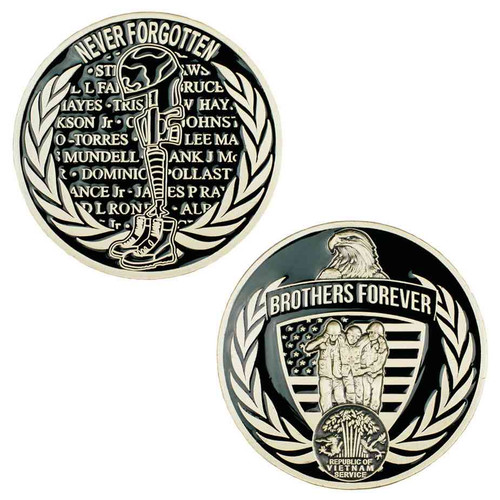 vietnam brothers forever commemorative challenge coin