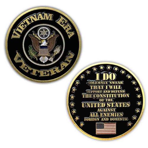 vietnam era veteran challenge coin limited issue