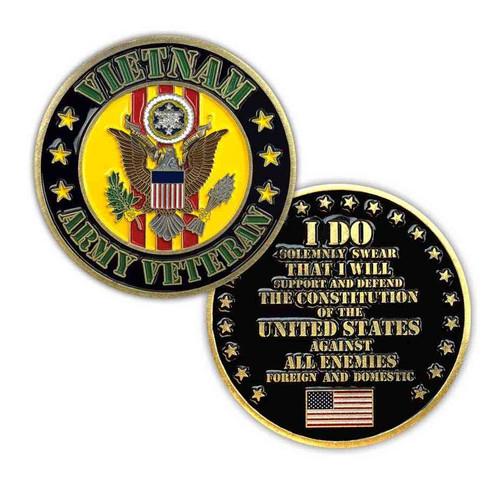 u s army vietnam veteran challenge coin limited issue