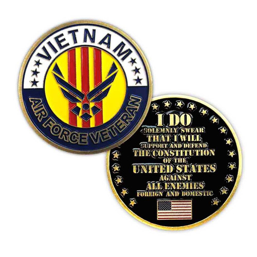 u s air force vietnam veteran challenge coin limited issue