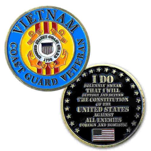 coast guard vietnam veteran challenge coin limited issue