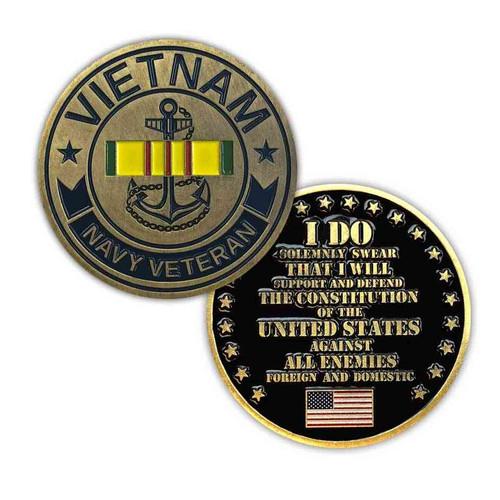 u s navy vietnam veteran challenge coin limited issue