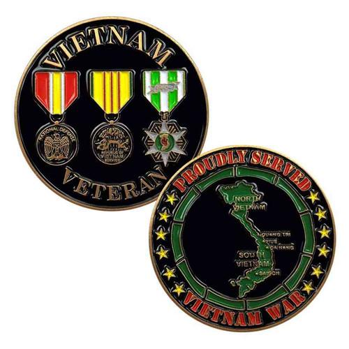 vietnam veteran 3 medals challenge coin