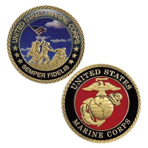 u s marine corps semper fidelis challenge coin