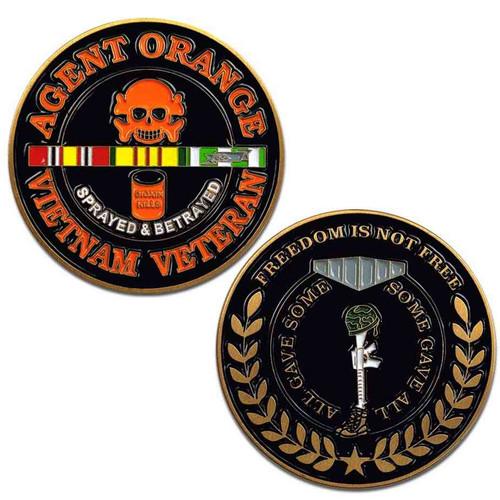 vietnam veteran challenge coin agent orange s