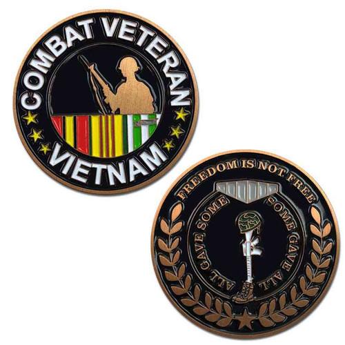 vietnam combat veteran challenge coin ribbon s