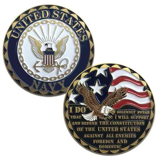 us navy challenge coin eagle emblem