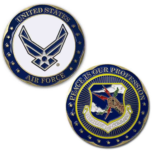us air force challenge coin wings and strategic air command s