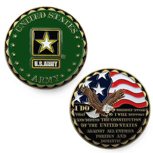 us army challenge coin eagle