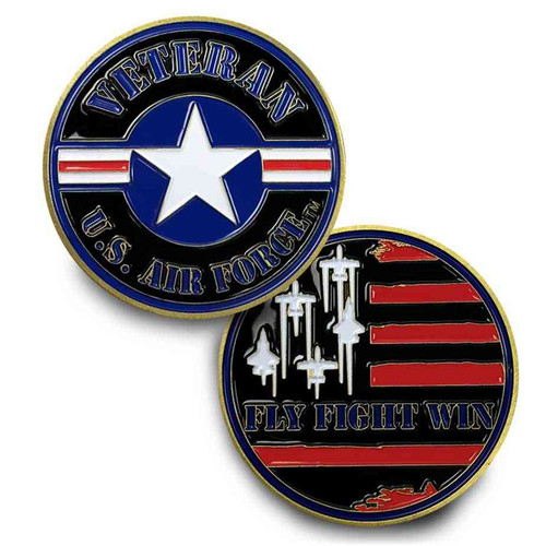 us air force veteran challenge coin roundel logo