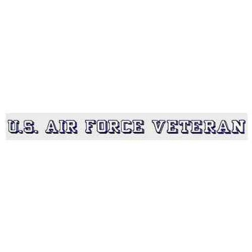 clear air force veteran sticker