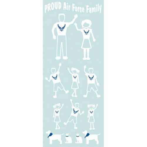air force family vinyl sticker pack