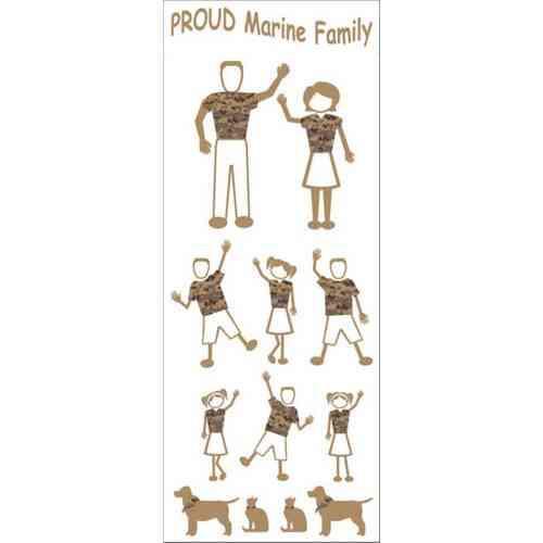 marine family vinyl sticker pack